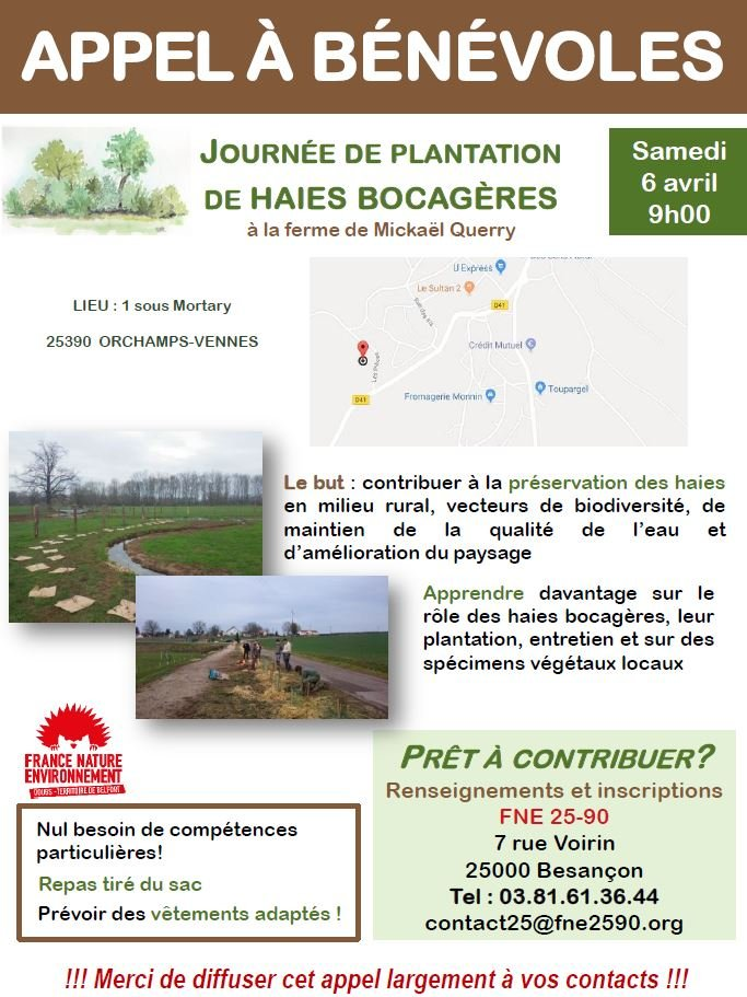 Chantier de plantation de haies